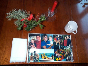 Create a collage of family photos.